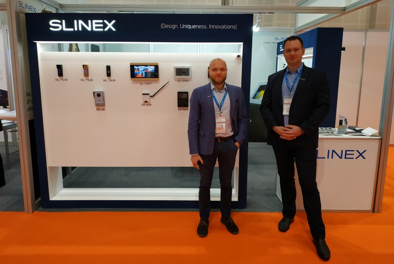 At that time Slinex company attend at the international exhibition Intersec 2019