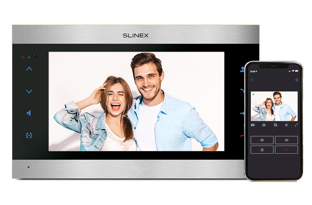Slinex SL-10IPTHD – 10-inch touch screen monitor with smartphone call forwarding and software motion detection functions